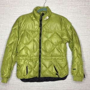 The North Face XS Goose Down Puffer Jacket Green